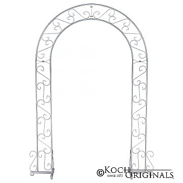 Wedding Arch - 92'' - Frosted Silver