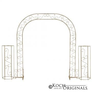 Wedding Arch w/ Two Columns & Extender - 92'' - Gold Leaf