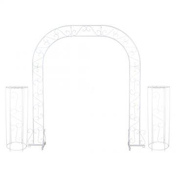 Wedding Arch w/ Two Columns & Extender - 92'' - White