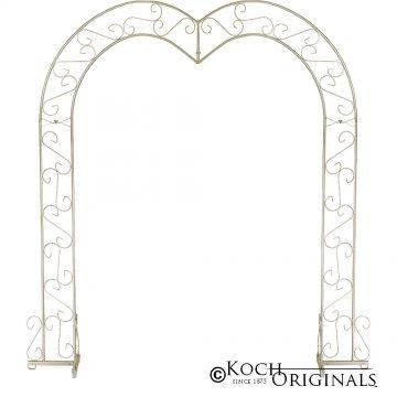 Heart Wedding Arch - Gold Leaf