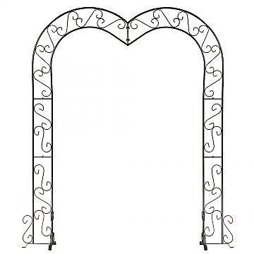 Heart Wedding Arch - Onyx Bronze