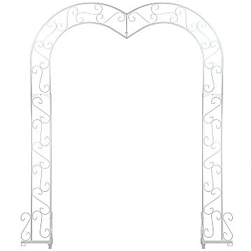Heart Wedding Arch - White