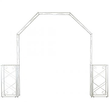 Convertible Wedding Arch w/ Two Columns - 96'' H - White